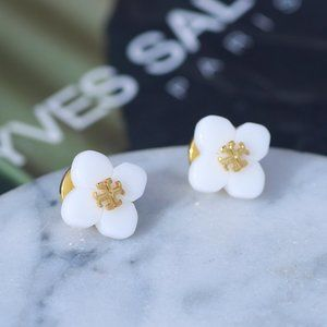 Tory Burch Resin Flower Earrings